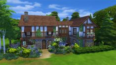 The Sims 4 Get Together Gallery Spotlight: Houses & Starters Part 2 Sims 4 Mm, My Sims, Beautiful Buildings, Beautiful Homes, Sims 4 Get Together, Sims 4 House Building, Sims House Design, Casas The Sims 4, Medieval Houses
