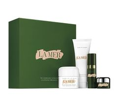 A classic selection of essential La Mer skincare, this introductory set reveals unmatched youthfulness.  Your regimen visibly renews and rejuvenates so fine lines, wrinkles, and pores look diminished.  The Regenerating Serum boosts natural collagen and elastin production, while the legendary Crème de la Mer soothes sensitivities and immerses skin in moisture.    Your Regimen: The Cleansing Foam 1 fl oz, The Regenerating Serum .17fl oz, Crème de la Mer .5oz, The Eye Concentrate .1oz.