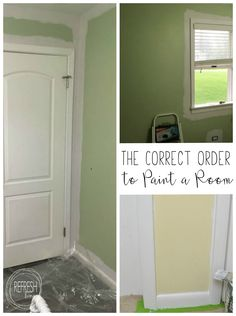 How to Paint a Room (The Correct Order of Operations)