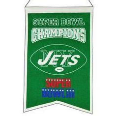New York Jets Wool Champions Banner