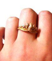 Rapunzel's Tiara (ring) by ThatPeskyNargle