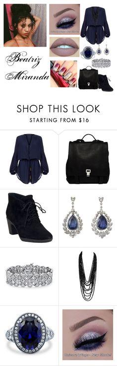 """Blue"" by biailove1d on Polyvore featuring moda, ViX, Proenza Schouler, Clarks, Palm Beach Jewelry, BERRICLE, women's clothing, women's fashion, women e female"
