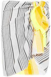 LemLem Samara striped cotton-blend gauze pareo Lemlem, Fashion Articles, Samara, Discount Designer Clothes, Fall Trends, Neon Yellow, Colorful Fashion, Clothes For Sale, The Hamptons