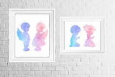 Twins room or nursery decor Print set Baby Girl Nursery Themes, Baby Girl Bedding, Baby Boy Rooms, Nursery Wall Decor, Nursery Prints, Baby Changing Tables, Baby Boy Cards, Baby Clothes Quilt, Parents Room