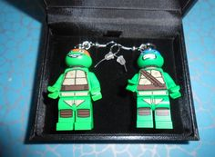 I need these Hand Made LEGO Ninja Turtle DANGLE by CristinasQuirkyCraft on Etsy, £13.78