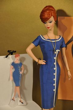 Joan Holloway blue dress from Mad Men, Barbi Style - Uncertain of author - except pinned originally from flicker - for @Chantel Cardona