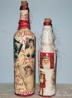 Retro Christmas Bottles