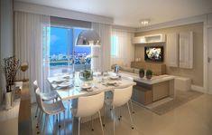 Apartamento com sala estendida
