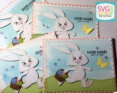 Wishing everyone a Happy Easter.          SVG Cutting Files Skipping Bunny   My Creative Time Ears to you   Gina Marie Scallop Rectangle di...