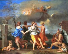 "Description of the painting by Nicolas Poussin ""Dance to the music of time""Description picture - Poussin Nicolas Pierre Auguste Renoir, Poussin Nicolas, National Gallery, Baroque Art, Baroque Painting, Magnum Opus, Time Painting, Paul Cezanne, Wassily Kandinsky"