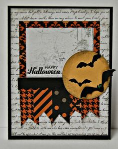 CTMH Happy Halloween card with Spellbound paper and For Always paper at From My Bungalow