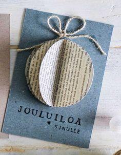 kuva Christmas Card Crafts, Xmas Cards, Christmas Art, Simple Christmas, Winter Christmas, Diy Cards, Christmas Decorations, Diy And Crafts, Paper Crafts