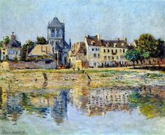 Claude Monet - By the River at Vernon, 1883. Oil on canvas. Private Collection