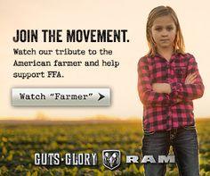 "Help @Ram Trucks support farmers. Check out ""Farmer"" & every view helps raise money to support @National FFA Organization"