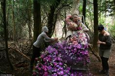 Photographer creates amazing fairytale inspired images using 1000 fresh flowers, set in enchanting woodland as part of touching tribute series to her late mother