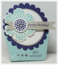 stand up card made with the Dresden Design Die from Stampin' Up!