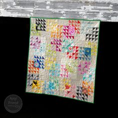 Winged Square Bee Quilt - During Quiet Time
