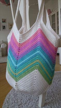 Com – SkillOfKing. Crochet Beach Bags, Crotchet Bags, Free Crochet Bag, Crochet Market Bag, Crochet Tote, Crochet Handbags, Crochet Purses, Cotton Crochet, Love Crochet