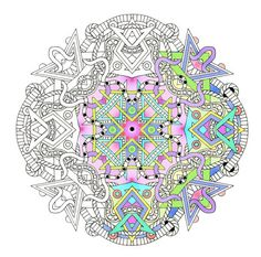 Mandalas: Set 2, Shapes A portfolio of complex coloring pages for adults by Vermont artist, Cynthia Emerlye.  This is Set 2 in my Mandala series of coloring portfolios. There are ten coloring pages in this set. Each page is printed on light cardstock and is designed to fit inside a standard picture frame. This collection of loose pages are held inside a colorful portfolio cover to keep them safe. Coloring can be a deeply calming and relaxing creative activity. Free from the necessity of…