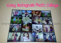 Create an easy #instagram photo collage #DIY #craft