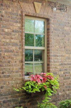 Window Box Planter DIY --Drill into brick