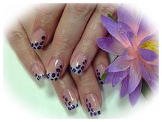Young Nails acrylic frenchmanicure Leopard print