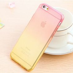 Cases For iPhone 7 6 6S Plus 4 4S SE 5 5S Candy Colors Gradient Soft TPU Clear Transparent Skin Protective For iPhone 6 Cases