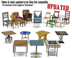 Around The Sims 4: Tables and chairs • Sims 4 Downloads