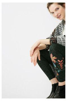Leggings verdes con paisley | Desigual.com D