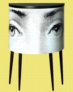 Fornasetti Cabinet // This looks good, but what else can you put in the room with it?