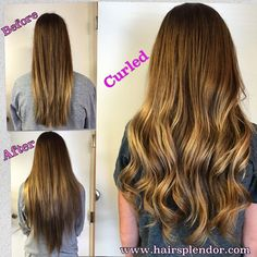 Brazilian Extensions/Curled at client's touch-up appt. Before After Hair, Beauty Supply, Extensions, Curls, Hair Beauty, Touch, Long Hair Styles, Long Hairstyle, Long Haircuts