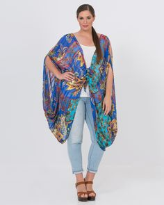 Εμπριμέ τουνίκ V — mat. XXL sizes — Γυναικεία Ρούχα, Μεγάλα Μεγέθη Kimono Top, Tops, Women, Fashion, Moda, Fashion Styles, Fashion Illustrations, Woman