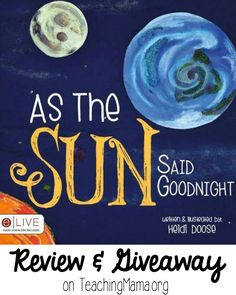 Today I'm sharing with you a lovely book called As the Sun Said Goodnight. This a beautiful story about how children all over the world go to bed. Children will love the imageryHeidi usesin her writing. Her smooth and playful words will naturally paint pictures in the child's head. She's also created neat illustrations to …