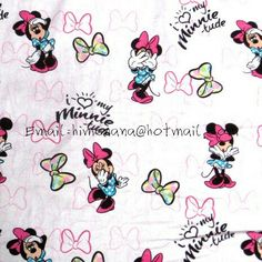Minnie Mouse Background, Minnie Mouse Fabric, Disney Cartoons, Woven Fabric, Disney Characters, Fictional Characters, Unique Jewelry, Handmade Gifts, Cotton