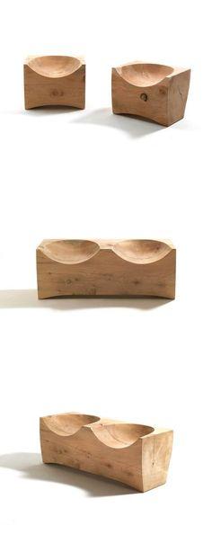 The Design Walker — Maurizio Riva and Davide Riva Davide & Log Stool Log Cabin Furniture, Rustic Wood Furniture, Western Furniture, Furniture Design, Log Chairs, Log Stools, Rustic Stools, Log Home Interiors, Rustic Interiors