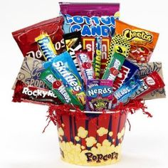 SCHEDULE YOUR DELIVERY DAY! Junk Food Junky Snacks and Candy Bouquet Gift Basket - http://mygourmetgifts.com/schedule-your-delivery-day-junk-food-junky-snacks-and-candy-bouquet-gift-basket/