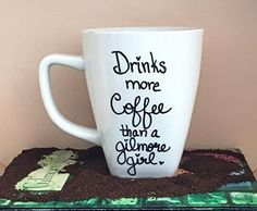 Gilmore Girls mug Drinks more Coffee than a Gilmore Girl ** See this great product.
