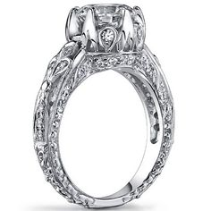 Edwardian Engagement Ring - love the band, designs all the way around