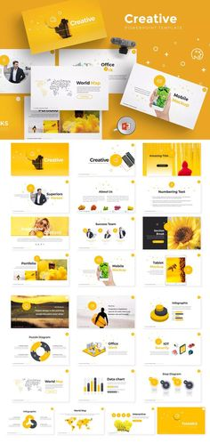 Creative Powerpoint Presentation Template - Powerpoint Templates - Ideas of Powerpoint Templates - Creative Powerpoint Presentation Template Powerpoint Slide Designs, Creative Powerpoint Presentations, Powerpoint Design Templates, Keynote Template, Layout Template, Flyer Template, Keynote Presentation, Presentation Slides Design, Company Presentation