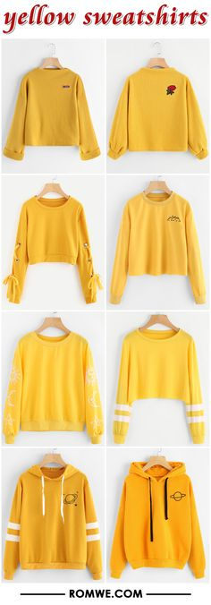 yellow sweatshirts from romwe.com