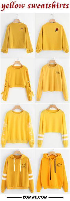 yellow sweatshirts from romwe.com