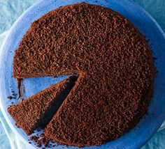 This rich, dark sponge is filled and coated with a thick chocolate custard, then finished with crumbled cake - best eaten chilled Bbc Good Food Recipes, Donut Recipes, Baking Recipes, Cake Recipes, Dessert Recipes, Brooklyn Blackout Cake, Passion Fruit Mousse, Chocolate Custard, Chocolate Cakes