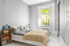 bright grey bedroom