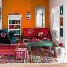 Love the colors, lose some of the Moroccan stuff