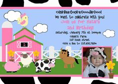 Farm Birthday Invitation Farm Birthday Party by TheTrendyButterfly, $13.00