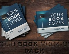 SALE-Book Cover Mock-UP Pack Graphics **Book Cover Mock-UP Pack**- High quality- 14 realistic hard book cover mockup ( 7 horizontal &am by attraax