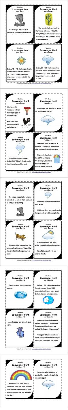 Weather scavenger hunt - let the games begin!