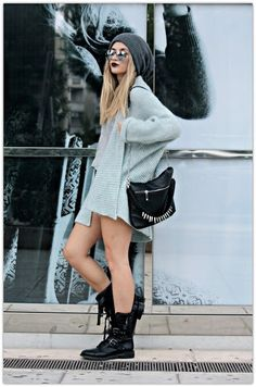 Neo grunge #grunge #style #fashion #rocker #beanie #fashionstreet