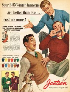 Retro Advertising, Vintage Advertisements, Vintage Ads, Vintage Style, Fashion Vintage, Retro Fashion, Vintage Outfits, 50s Theme Parties, Gents Fashion