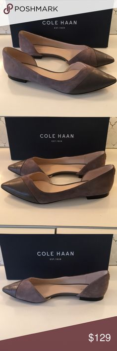 ❤️COLE HAAN FLATS 💯AUTHENTIC COLE HAAN FLATS 100% AUTHENTIC! STUNNING AND STYLISH TOTALLY ON TREND! TRUE LUXURY! THE COLOR IS GRAY AND THE SIZE IS 9.5. COMES WITH COLE HAAN BOX Cole Haan Shoes Flats & Loafers